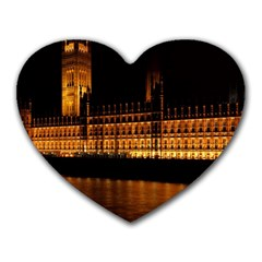 Houses Of Parliament Heart Mousepads