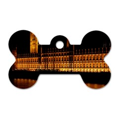 Houses Of Parliament Dog Tag Bone (Two Sides)