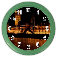 Houses Of Parliament Color Wall Clocks