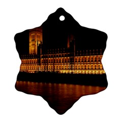 Houses Of Parliament Snowflake Ornament (Two Sides)