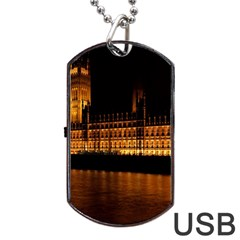 Houses Of Parliament Dog Tag USB Flash (One Side)