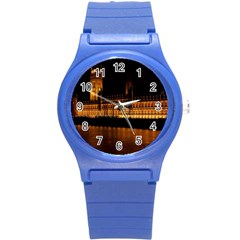 Houses Of Parliament Round Plastic Sport Watch (s)