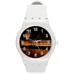 Houses Of Parliament Round Plastic Sport Watch (m)
