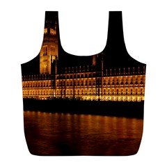 Houses Of Parliament Full Print Recycle Bags (l)