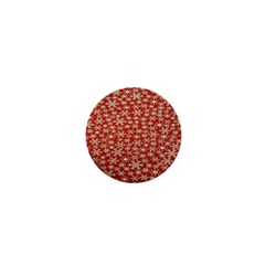 Holiday Snow Snowflakes Red 1  Mini Buttons