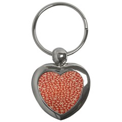 Holiday Snow Snowflakes Red Key Chains (Heart)
