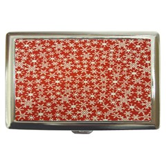 Holiday Snow Snowflakes Red Cigarette Money Cases