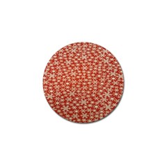 Holiday Snow Snowflakes Red Golf Ball Marker (4 pack)