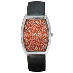 Holiday Snow Snowflakes Red Barrel Style Metal Watch