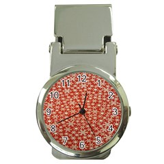 Holiday Snow Snowflakes Red Money Clip Watches