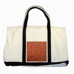 Holiday Snow Snowflakes Red Two Tone Tote Bag