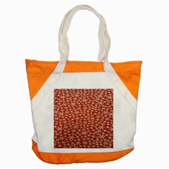 Holiday Snow Snowflakes Red Accent Tote Bag
