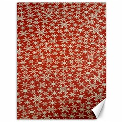 Holiday Snow Snowflakes Red Canvas 36  x 48