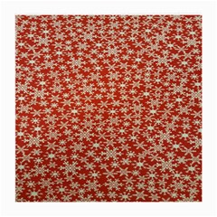 Holiday Snow Snowflakes Red Medium Glasses Cloth (2-Side)