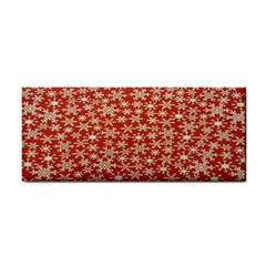 Holiday Snow Snowflakes Red Cosmetic Storage Cases