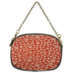 Holiday Snow Snowflakes Red Chain Purses (One Side)