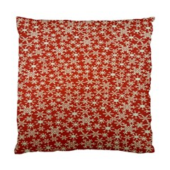Holiday Snow Snowflakes Red Standard Cushion Case (Two Sides)