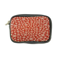 Holiday Snow Snowflakes Red Coin Purse
