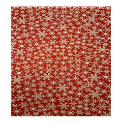 Holiday Snow Snowflakes Red Shower Curtain 66  x 72  (Large)