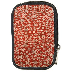 Holiday Snow Snowflakes Red Compact Camera Cases