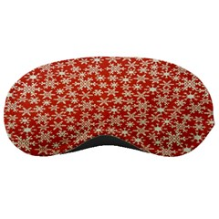 Holiday Snow Snowflakes Red Sleeping Masks