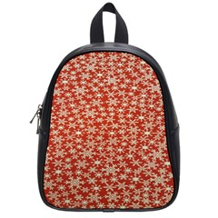 Holiday Snow Snowflakes Red School Bags (Small)