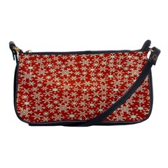 Holiday Snow Snowflakes Red Shoulder Clutch Bags