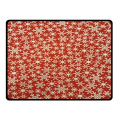 Holiday Snow Snowflakes Red Fleece Blanket (Small)