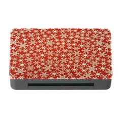 Holiday Snow Snowflakes Red Memory Card Reader With Cf