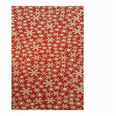 Holiday Snow Snowflakes Red Small Garden Flag (two Sides)