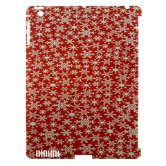 Holiday Snow Snowflakes Red Apple iPad 3/4 Hardshell Case (Compatible with Smart Cover)