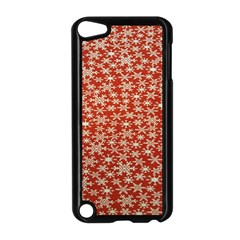 Holiday Snow Snowflakes Red Apple Ipod Touch 5 Case (black)