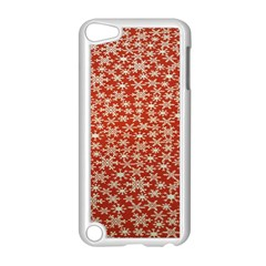 Holiday Snow Snowflakes Red Apple Ipod Touch 5 Case (white)