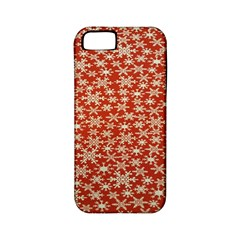 Holiday Snow Snowflakes Red Apple Iphone 5 Classic Hardshell Case (pc+silicone)