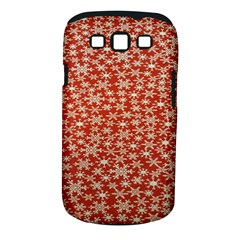 Holiday Snow Snowflakes Red Samsung Galaxy S Iii Classic Hardshell Case (pc+silicone)