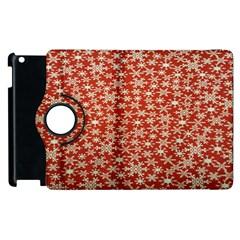 Holiday Snow Snowflakes Red Apple iPad 2 Flip 360 Case