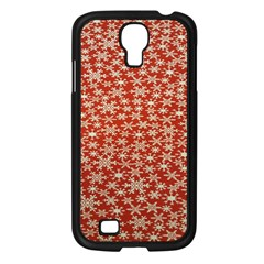 Holiday Snow Snowflakes Red Samsung Galaxy S4 I9500/ I9505 Case (black)