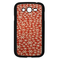 Holiday Snow Snowflakes Red Samsung Galaxy Grand Duos I9082 Case (black)