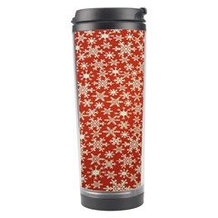 Holiday Snow Snowflakes Red Travel Tumbler