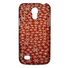 Holiday Snow Snowflakes Red Galaxy S4 Mini