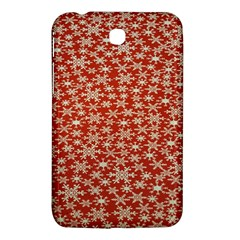 Holiday Snow Snowflakes Red Samsung Galaxy Tab 3 (7 ) P3200 Hardshell Case