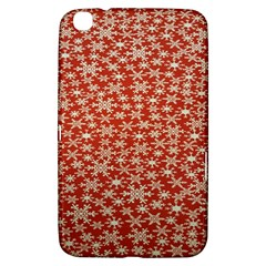 Holiday Snow Snowflakes Red Samsung Galaxy Tab 3 (8 ) T3100 Hardshell Case