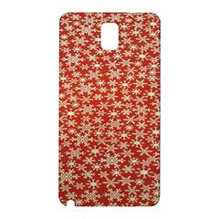 Holiday Snow Snowflakes Red Samsung Galaxy Note 3 N9005 Hardshell Back Case