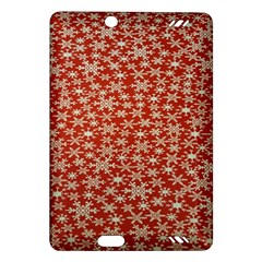 Holiday Snow Snowflakes Red Amazon Kindle Fire HD (2013) Hardshell Case