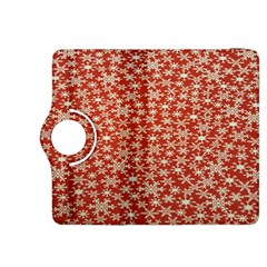 Holiday Snow Snowflakes Red Kindle Fire HDX 8.9  Flip 360 Case