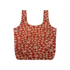 Holiday Snow Snowflakes Red Full Print Recycle Bags (s)