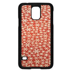 Holiday Snow Snowflakes Red Samsung Galaxy S5 Case (black)
