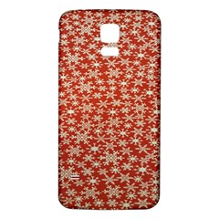 Holiday Snow Snowflakes Red Samsung Galaxy S5 Back Case (white)