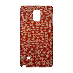 Holiday Snow Snowflakes Red Samsung Galaxy Note 4 Hardshell Case