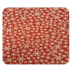 Holiday Snow Snowflakes Red Double Sided Flano Blanket (small)